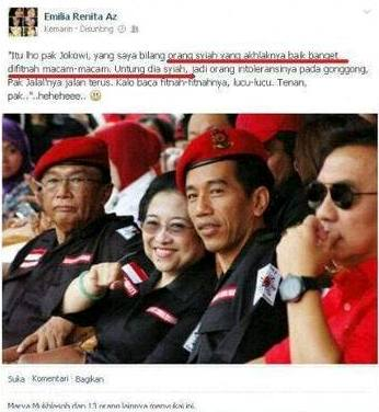 Klaim Jokowi Syiah Emilia Istri Jalal cropped Jokowi Penganut Agama Syiah, Benarkah?