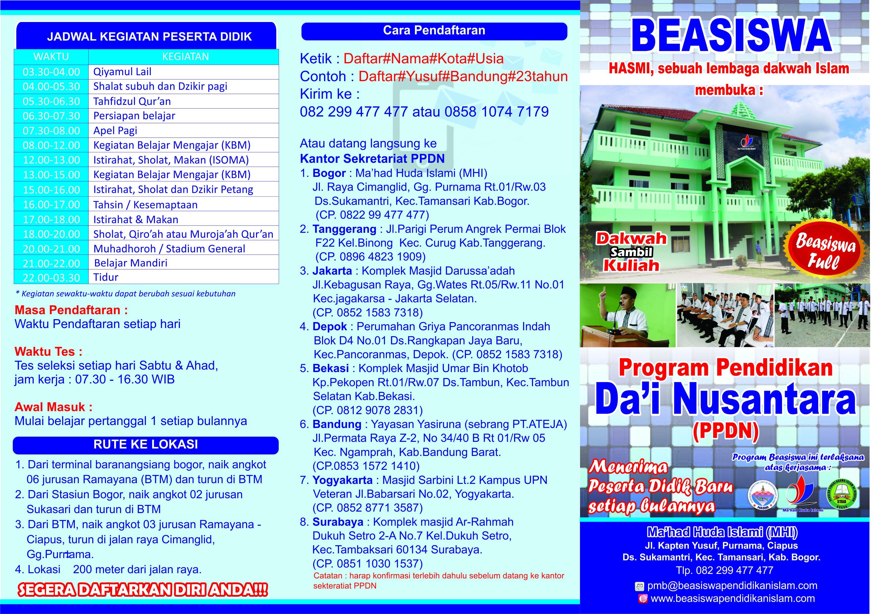 Segeralah Bergabung di Program Pendidikan Da'i Nusantara (PPDN) - HASMI :: Sebuah Gerakan ...