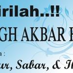 """Brosur Tabligh Akbar: """"Syukur, Sabar, & Ikhlas"""""""