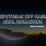 Keputusan DPP HASMI – 1 Romadhon Jatuh Pada 17 Mei 2018