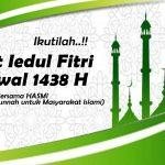Sholat Iedul Fitri 1438 H Bersama HASMI