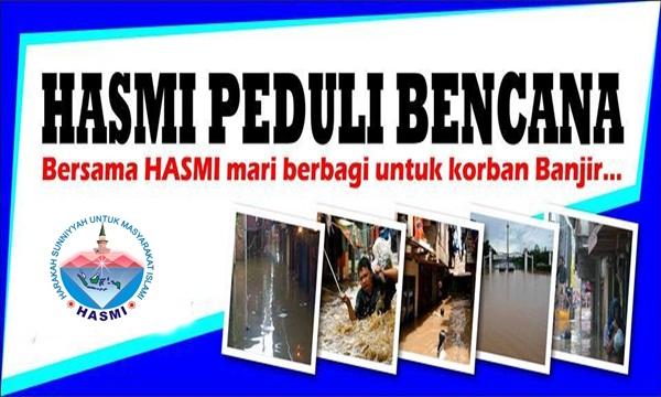 Laporan Sementara Aksi Kemanusiaan Peduli Banjir yang di Gelar HASMI