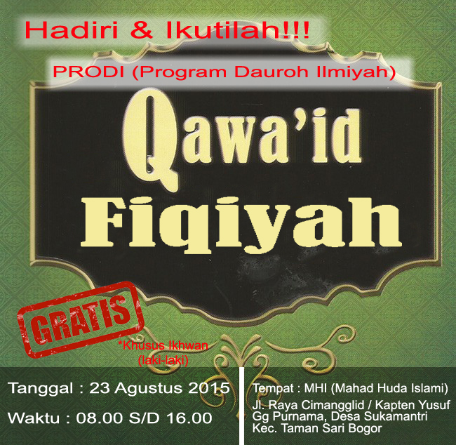 Hadirilah & Ikutilah PRODI (Program Dauroh Ilmiyah) Hasmi & Pendengar Fajri Fm