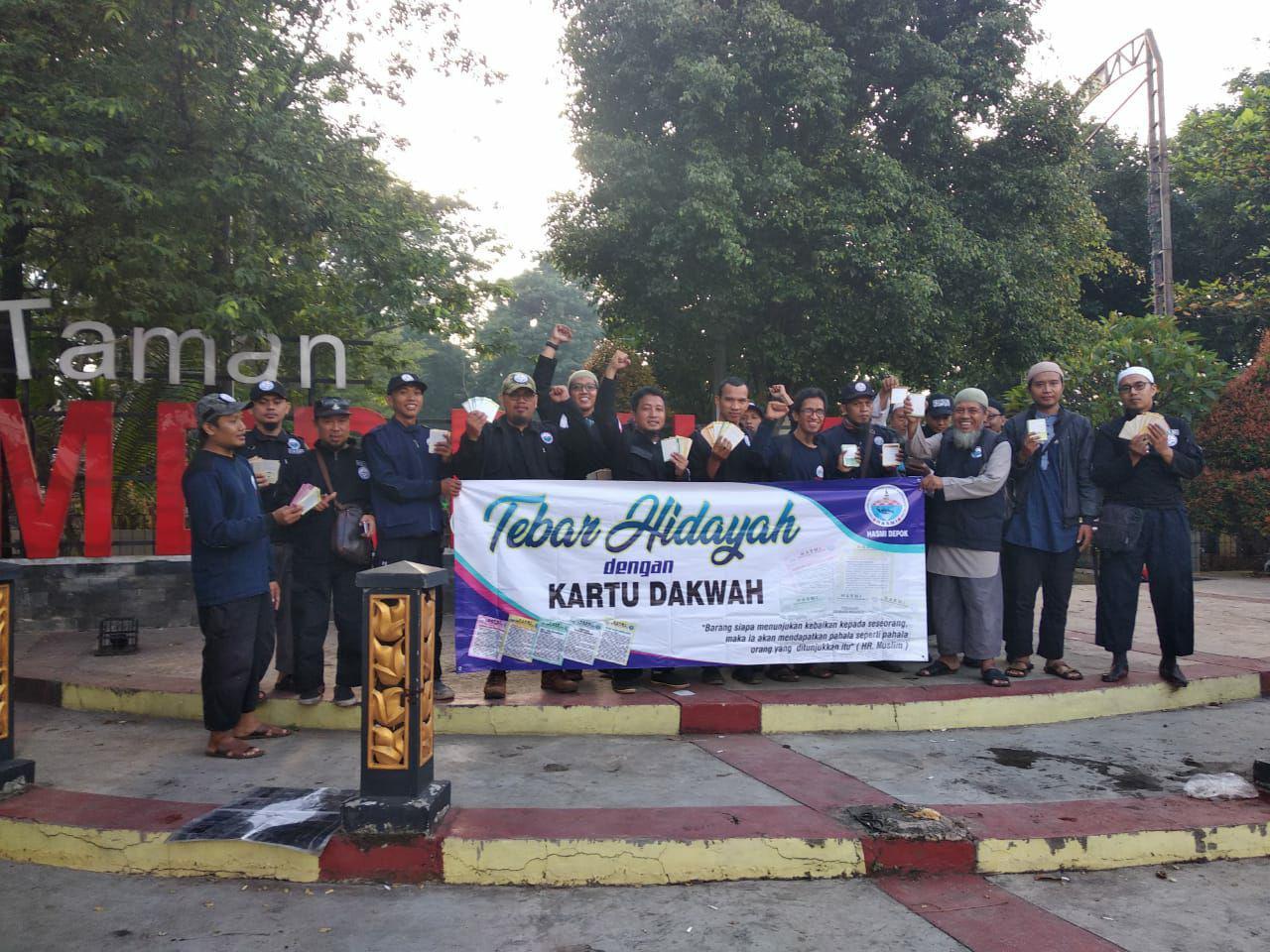 Ratusan Anggota Usroh HASMI JABODETABEK, Bandung Dan Jateng Melaksanakan Agenda Tebar Kartu Dakwah