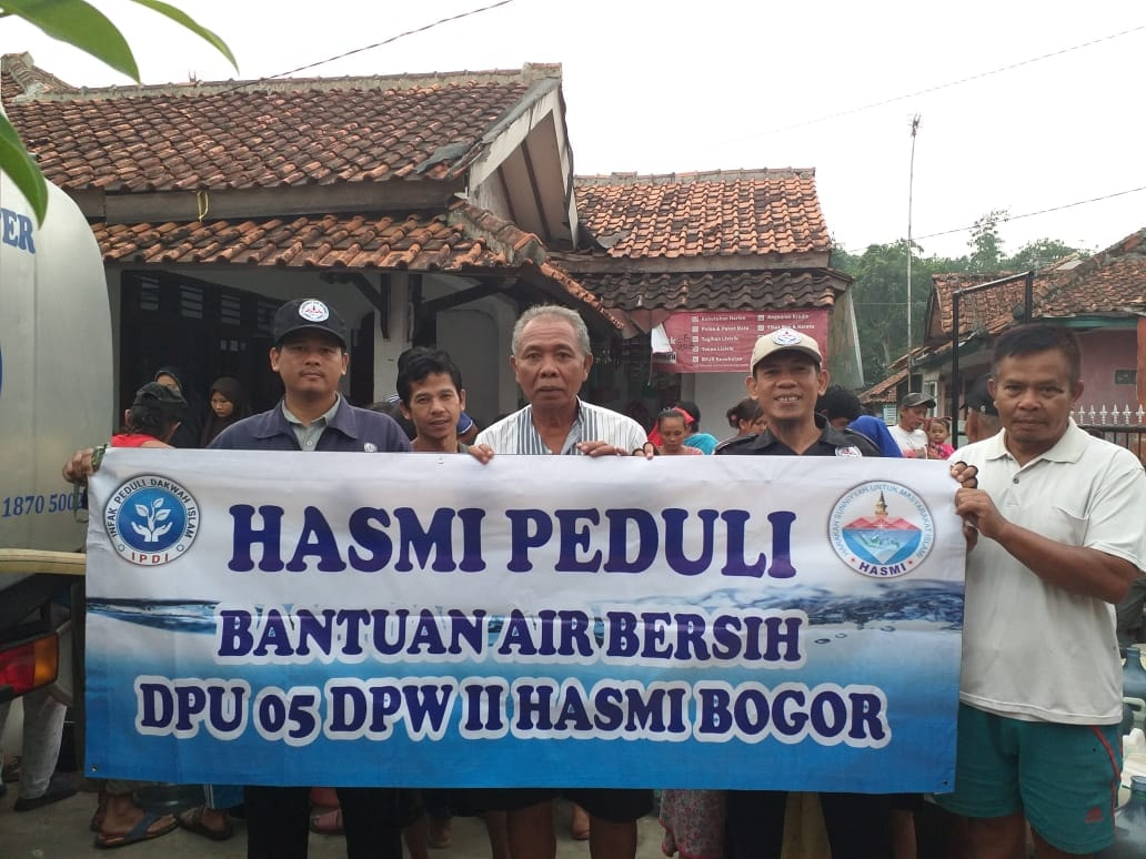 Bantuan Air Bersih HASMI Peduli untuk Warga Leuweung Kolot – Bogor