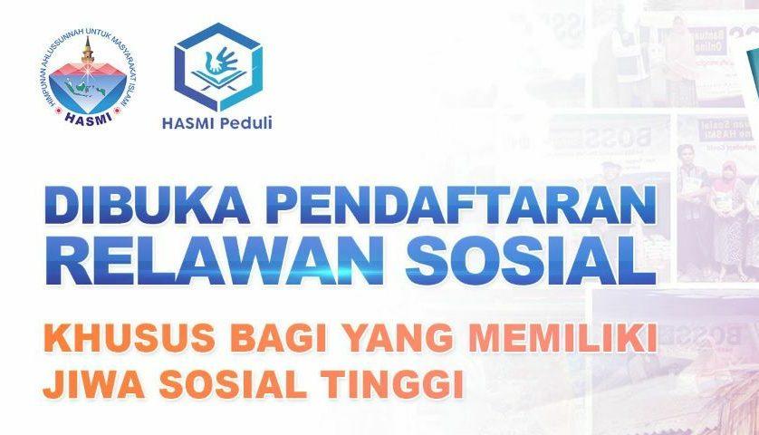 Dibuka!! – Pendaftaran Relawan Sosial & Kemanusiaan