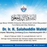 HASMI Turut Berta'ziah atas Wafatnya KH Shalahudin Wahid