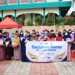 HASMI Pusat Santunan Beras Kepada Yatim, Fakir Miskin, dan Dhu'afa di Cimanglid Bogor