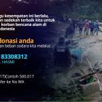 HASMI Salurkan Bantuan untuk Korban Banjir Bandang di Kp Gunung Mas, Cisarua Bogor